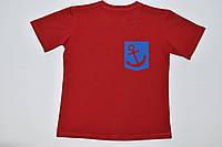 Красная футболка для мальчика