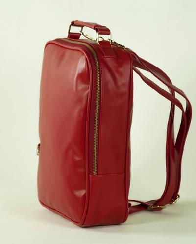 Яркая женская сумка-рюкзак Traum 7224-02 красный