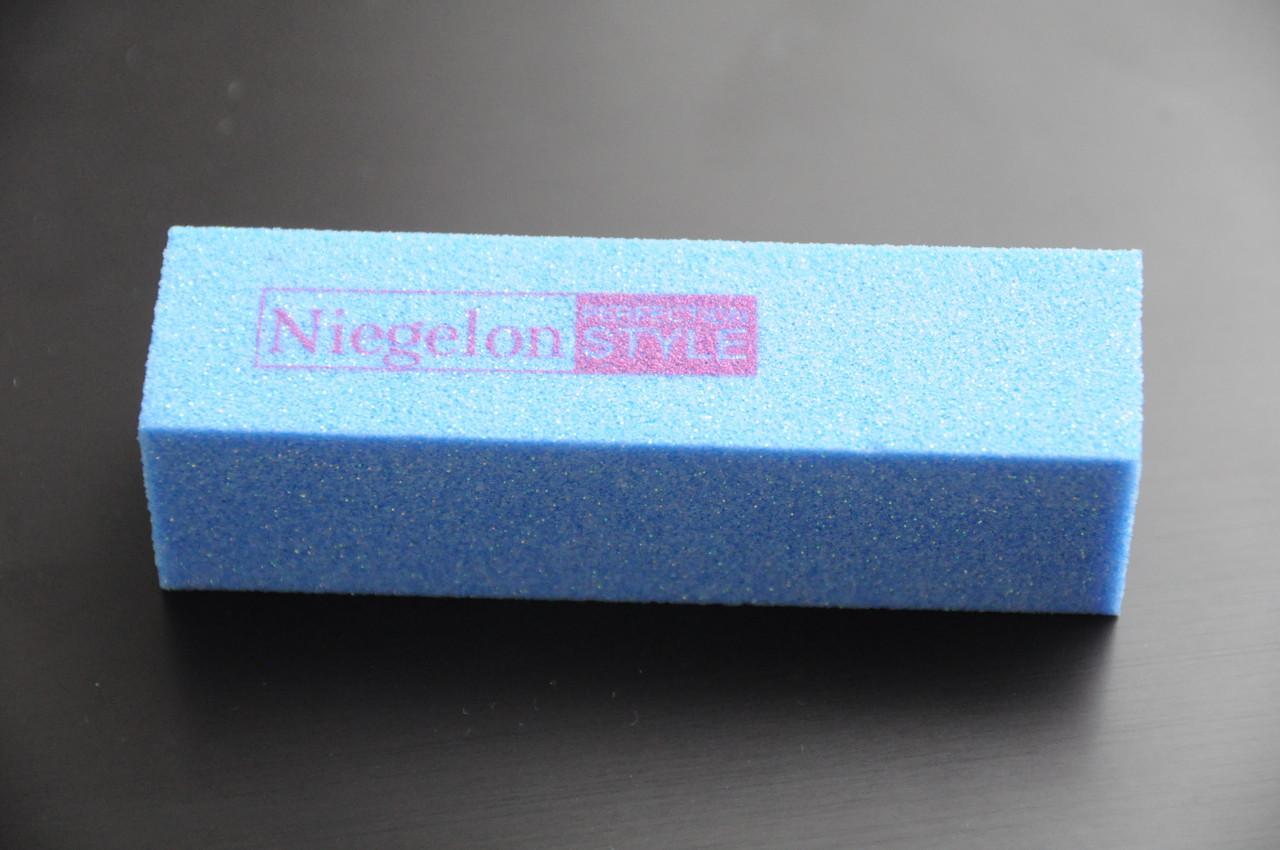 Бафик шлифовочный Niegelon голубой 4х сторонний 150*150