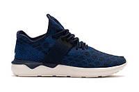 Кроссовки мужские адидас  Adidas Tubular Runner Primeknit Stone Blue синего цвета