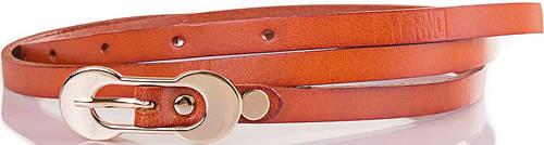 Женский узкий кожаный ремень ETERNO (ЭТЕРНО) ETS7378-12, рыжий