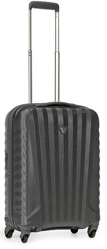 Прочный пластиковый малый чемодан 35 л. Roncato UNO ZIP 5083/02/22 антрацит