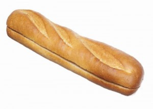 Мягкий багет (для бутерброда, с наклонным надрезом)