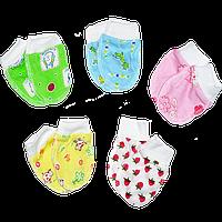 Рукавички-антицарапки для новорожденного, начес, р. 56, 62