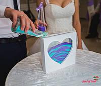 Рамка в форме сердца для песочной церемонии