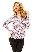 """Классическая женская рубашка """"Лесли"""" с цветочным принтом (2 цвета)"""