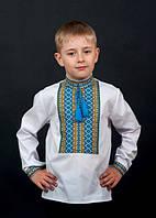 Сорочка для хлопчика машинна вишивка №0117