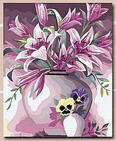 "Картина по номерам ""Лилии в вазе"""