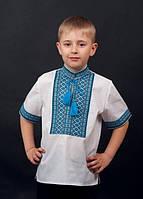 Сорочка для хлопчика к.р. машинна вишивка №0112