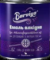 Барвия Эмаль - ПФ-115 белая (0,9кг банка)