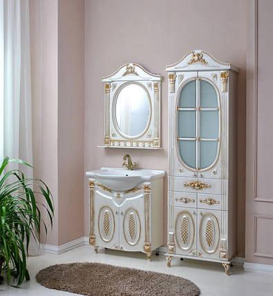 Комплект мебели Атолл Наполеон-65 белый жемчуг патина золото, фото 2