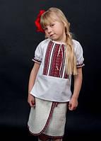 Сорочка для дівчинки к.р машинна вишивка №0134