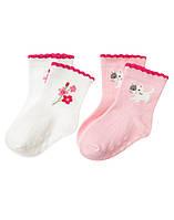 Носочки для новорожденной девочки   (2 пары)  0-3  месяца