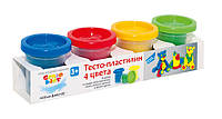 Набор для детской лепки «Тесто-пластилин 4 цвета»  4 баночки по 140 гр GENIO KIDS