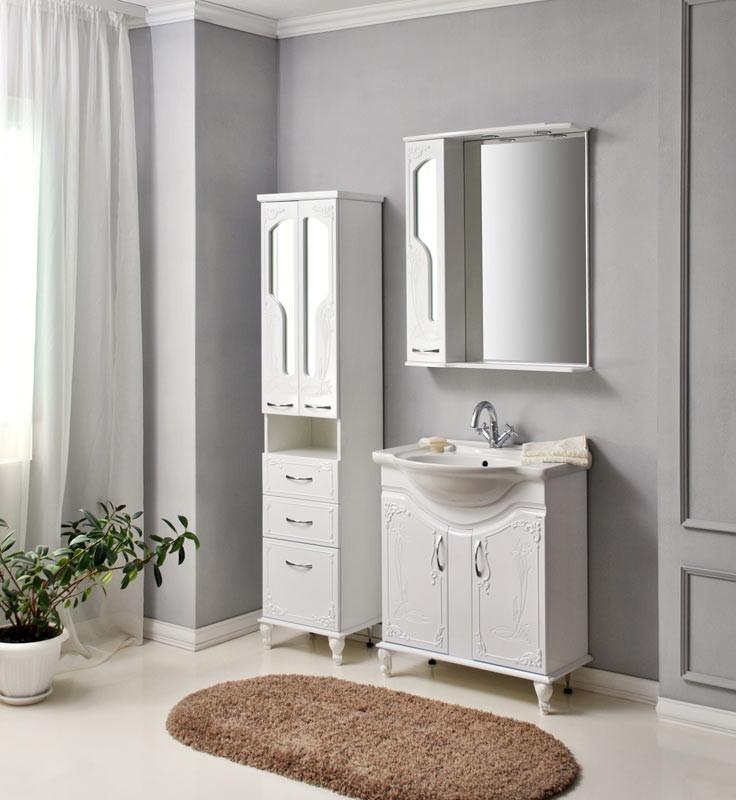 Комплект мебели Ольвия (Атолл) Барселона белое дерево 75 lucido