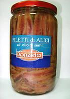 Анчоусы филе в масле 370/720г ТМ Vittoria