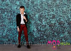 Детские штаны красные, одежда для мальчиков 122-146