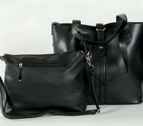 Самая модная женская сумка 2 в 1 Traum 7310-04 черный