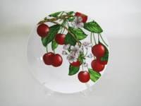 Тарелка для вторых блюд № 8 Вишня в цвету 200 мм