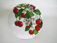 Тарелка для вторых блюд № 9 Вишня в цвету 230 мм