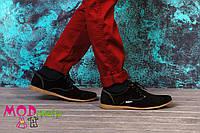 Обувь детская. Мокасины черный замш