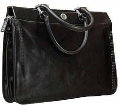 Сумка-портфель женский кожаный VERUS Y 48112.A черный