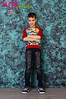 Джинсы детские, одежда для мальчика 6-10 лет