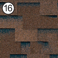 Битумная черепица Roofshield Classic Модерн коричневый с оттенком