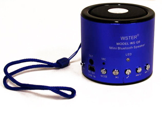 Портативная bluetooth колонка MP3 плеер WS-Q9 Blue