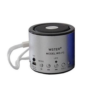 Портативная bluetooth колонка MP3 плеер WS-Q9 Silver