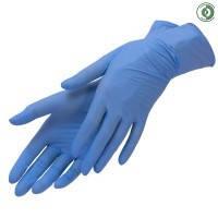 Перчатки нитриловые, текстурированые, неопудренные, смотровые Nitrylex PF Protect (Нитрилекс ПФ Протект), фото 2
