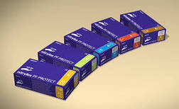 Перчатки нитриловые, текстурированые, неопудренные, смотровые Nitrylex PF Protect (Нитрилекс ПФ Протект), фото 3