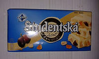 Шоколад белый Studentska Original с арахисом , желе Студенческая печать 180 гр