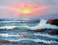 Алмазная вышивка Море на закате KLN 30 х 40 см (арт. FR095)