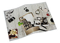 Обложка на паспорт Черно-белое фото (натур. кожа)
