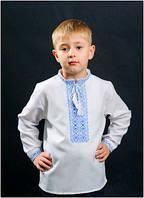 Вышиванка детская для мальчика белая мужская ТМ Два Кольори 0104 хлопок