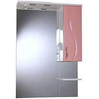 Зеркало для ванной  Бриз БШНЗ2-65  Ювента розовое правое