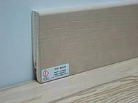 Плинтус деревянный шпонированный Тратлайн Дуб молочный 82*16*2400 мм