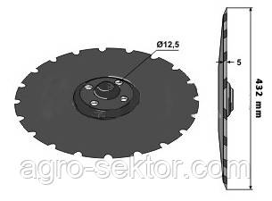 Диск для дисковой бороны Vaderstad Carrier 432 мм на 4 отверстия 459608