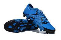 Бутсы мужские Adidas X 15.1 FG Blue Black  кроссовки