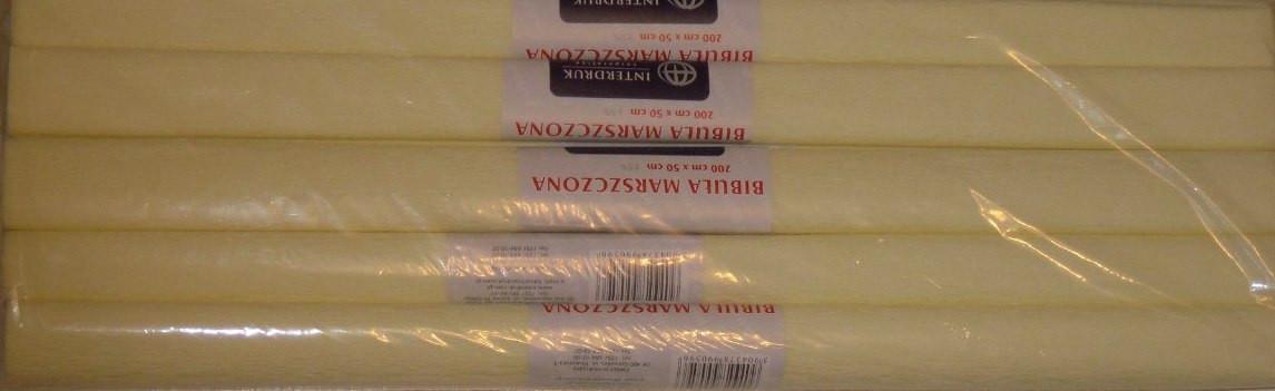 Гофрований папір кремовий № 2 Interdruk