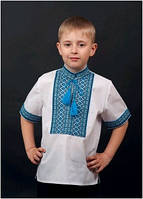 Вышиванка детская для мальчика мужская с коротким рукавом ТМ Два Кольори 0112 хлопок