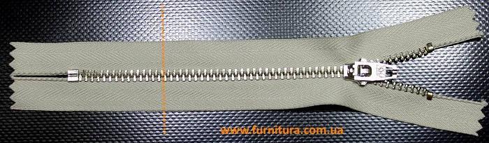 Молния YKK 14 см тип 4,5 .беж+никель., фото 2