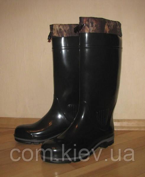 Сапоги мужские резиновые (ПВХ) ПС 15 УТМ черные в Киеве купить