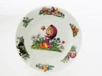 Тарелка для вторых блюд № 7 Маша и медведь  180 мм