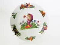 Тарелка для вторых блюд № 8 Маша и медведь  200 мм