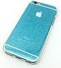 Чехол силиконовый голубой для Iphone 6/6S