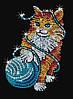 """Картина из пайеток (Мозаика блёстками) """"Котёнок"""""""