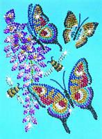 "Мозаика из блёсток и бусинок ""Бабочки"""