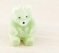Свеча Мишка зеленый 70х60мм
